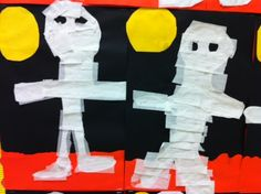 Tissue paper mummy collage