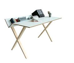 Thorsten van Elten Kant desk. Love the dippy down bit at the back: an idea to apply to desk/vanity in loft room?!!