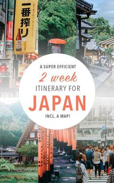 Japan travel tips for your two week trip! These Japan destinations are seriously amazing. Includes a map! #japantravel