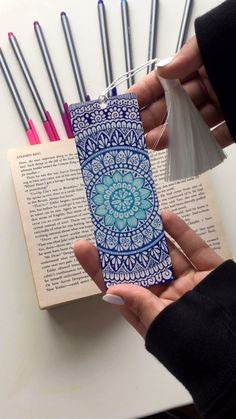 Colorful mandala bookmark this and a lot of other designs on my Etsy shop bookmark mandalabookmark etsy handdraw mandala art artwork worldwide # Mandala Doodle, Mandala T Shirt, Mandala Book, Mandala Art Lesson, Mandala Artwork, Mandala Painting, Moon Mandala, Watercolor Mandala, Easy Mandala Drawing