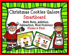 Christmas Cookies Galore Smart board Math:  Kinder and First