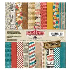 FarmHouse Paper Company - Market Square Collection - 6 x 6 Paper Pad at Scrapbook.com $6.99