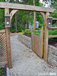DIY Fence Gate - Garden Arbor Gate