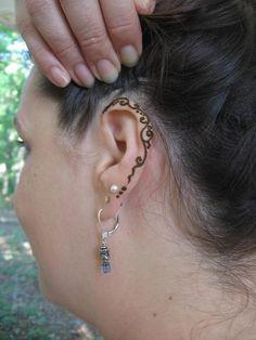 Henna Ear Tattoo