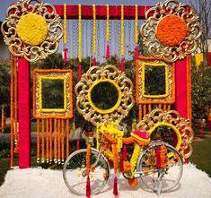 Beautiful photo booth for sangeet ceremony #indianweddingdecorations #IndianWeddingIdeas