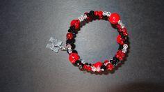 Nebraska Cornhuskers Memory Wire Bracelet with by BrunosBling, $7.00