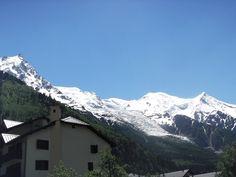 Mont Blanc from Chamonix city. Mount Everest, France, Mountains, City, Nature, Travel, Mont Blanc, Naturaleza, Viajes