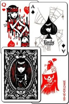 Emily The Strange Playing Cards... perfect to decorate with for a Malice in Wonderland or Happily Never After event.