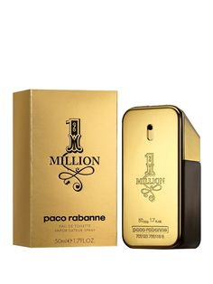 Paco Rabanne 1 Million Eau de Toilette oz. Million Men, Peppermint, Fragrance, Cosmetics, Shopping, Leather, Touch, Dreams, Eau De Toilette