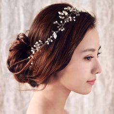 New-Wedding-Bridal-Crystal-Gold-Silver-Headband-Hair-Accessories-Crown-Tiara