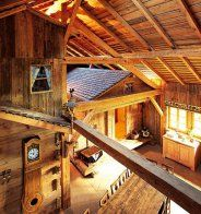 all wood . Alpine Chalet, Got Wood, Cabins In The Woods, Log Homes, Home Interior, Architecture, Camping, House Design, Rustic