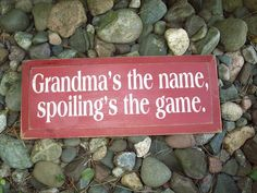 "7""x18"" Country 'Grandma' Wood Sign Rustic Decor"