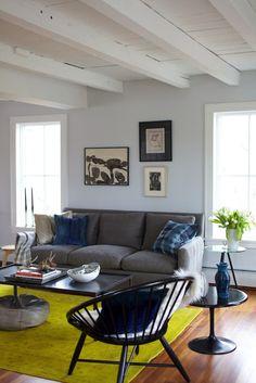love the wall color.  Benjamin Moore: Pearl River #871