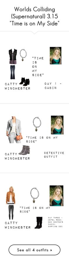 """""""Worlds Colliding (Supernatural) 3.15 """"Time is on My Side"""""""" by mysticfalls1997 ❤ liked on Polyvore featuring Jean-Paul Gaultier, maurices, Chinese Laundry, Banana Republic, Gianvito Rossi, Lucky Brand, Ksubi, Therapy, ONLY and ThePerfext"""