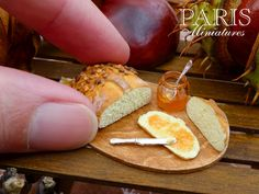 Miniatures: Autumn Loaf with Quince Jelly 12th Scale Miniature Food