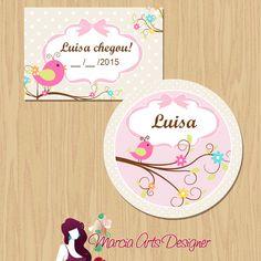 Etiqueta e tag nascimento | Marcia Arts Designer | Elo7