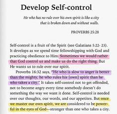 Develop Self-Control