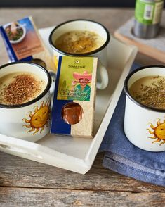 Erdäpfelsuppe Garam Masala, Soup, Pudding, Desserts, Pureed Soup, Apple, Tailgate Desserts, Deserts, Custard Pudding