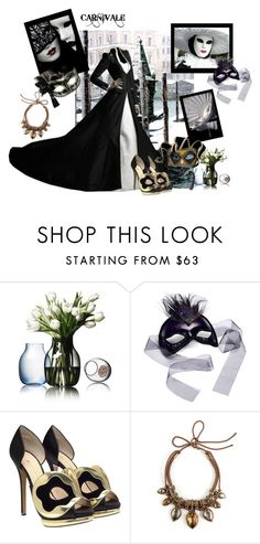 """Carnivale Chic"" by mystimorgan ❤ liked on Polyvore featuring Umberto, Menu, Masquerade, Nicholas Kirkwood and Lanvin"