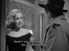 17 Savage Old Hollywood Movie Clapbacks From Women That Are Straight-Up Genius And when Angela gave the most EPIC Old Hollywood burn in The Asphalt Jungle. 17 Savage Old Hollywood Movie Clapbacks From Women That Are Straight-Up Genius Old Movie Quotes, Classic Movie Quotes, Tv Quotes, Classic Movies, Mood Quotes, Funny Quotes, Cinema Quotes, Famous Movie Quotes, Iconic Movies