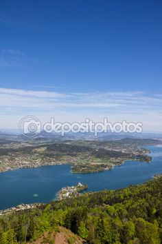 #View From #Observation #Tower @Pyramidenkogel To #Lake Woerthersee @Depositphotos #depositphotos @carinzia #ktr15 #nature #landscape #travel #sightseeing #austria #carinthia #holidays #vacation #outdoor #season #spring #summer #mariawoerth #mountains #stock #photo #portfolio #download #hires #royaltyfree