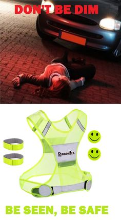 The best way to stay safe and be highly visible when running, jogging, biking outside during lowlight http://www.amazon.com/Reflective-Running-Reflector-Adjustable-Visibility/dp/B0183MDHOC.