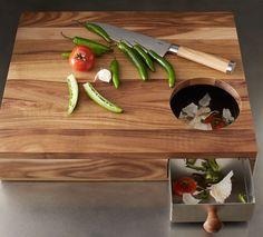 Acacia Storage Cutting Board