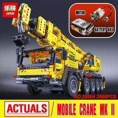 108.00$  Watch more here  - LEPIN 20004 Technic Motor Power Mobile Crane Mk II Model Building Kits  Blocks Toy Bricks compatible with 42009