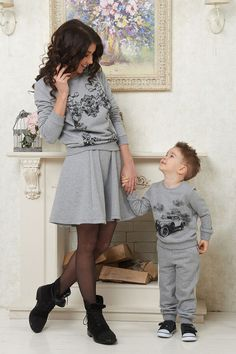 Matching Mother and Son sweater
