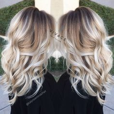 "blonde balayage highlights by kalyn sieminski at vivace salon in del mar ca. ""Love*Love*Love""!"