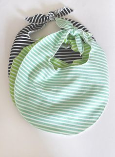 The French Terry Bib // Mint Stripe