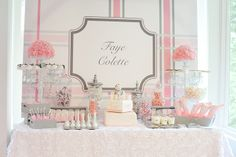 pink and grey baby shower | ... Pelton for sharing some images of the event, and welcome baby Faye