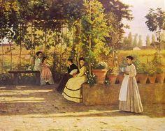 Il pergolato, Silvestro Lega  1826 -1895