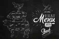 Meat Menu by Anna on Creative Market