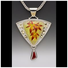 Fall Maple Leaves necklace by Olga Barmina.