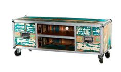 Industriele hutkoffer flightcase kast dressoir tv kast