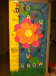 Teacher door idea