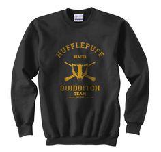 KEEPER Hufflepuff Quidditch team Unisex Sweatshirt S by geekspride Harry Potter Lufa Lufa, Harry Potter Kleidung, Hufflepuff Pride, Ravenclaw, Hufflepuff Merchandise, Must Be A Weasley, Hooded Sweatshirts, Hoodies, Jackets