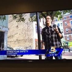 Our Chief Administrative Officer/Cyclist Justin Tucker was interviewed for riding his company bike through OTR yesterday, and completely called out his own co-worker! We're just glad you're okay, @mmm9589  #thisisotr