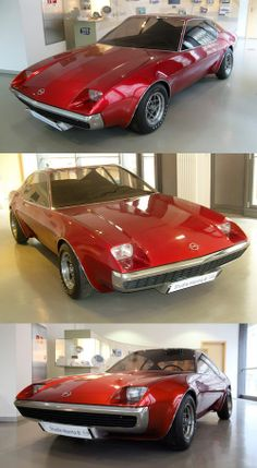1972 Opel Studie Manta B Prototype. Three were made as show cars, Red, Silver and Blue, and the Blue one has gone missing, or so I've read on the intarwebs.