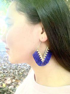 Tassel Earrings, Crochet Earrings, Drop Earrings, Ankle Tattoos For Women Anklet, Blue And White, Teal Blue, Tassels, Valentines Day, Birthday Gifts