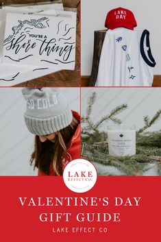 Valentine's day gift guide for a few ideas on what you need to show any lake lover how much they mean to you from cozy winter beanies to cards and candles. Winter Beanies, Winter Hats, Spiked Cider, Valentine Day Gifts, Valentines, Romantic Weekend Getaways, Cozy Winter, Lake Life, Great Lakes