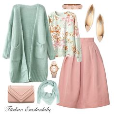 Türkan Eraslankılıç: make special combinations for yourself Muslim Fashion, Modest Fashion, Skirt Fashion, Hijab Fashion, Fashion Dresses, Modest Outfits, Skirt Outfits, Chic Outfits, Classy Outfits