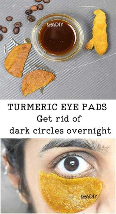 OVERNIGHT TURMERIC EYE PADS FOR DARK CIRCLES Dark circles is a common phenomenon these days thanks to stressed lifestyles, desk jobs that require you to work all day in front of the computer screens, lack of skin care and health. Dark circles ca Beauty Care, Beauty Hacks, Beauty Tips, Beauty Secrets, Diy Beauty, Beauty Ideas, Face Beauty, Beauty Quotes, Beauty Box