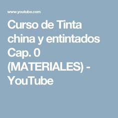 Curso de Tinta china y entintados Cap. 0 (MATERIALES) - YouTube