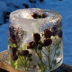 DIY flower and ice candle lantern │Slik lager du en dekorert islykt | video tutorial │Moseplassen