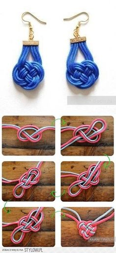DIY Chinese Knot Earrings DIY Projects | UsefulDIY.com na Stylowi.pl