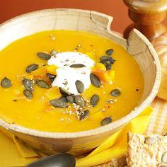 Kürbiskernsuppe mit Sahne gesund und lecker