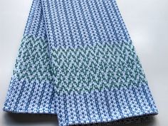 Tea Towel Handwoven Blue Green. $25.00, via Etsy.