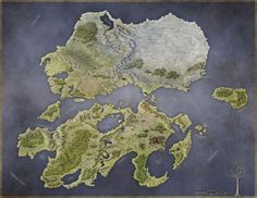 This is the map of Rhune - a stormpunk (norse steampunk) setting for the Pathfinder game. The world looks looks like a lot of fun, and the designers are. Rhune: Dawn of Twilight Dnd World Map, Fantasy World Map, Rpg World, Old Maps, Antique Maps, Vintage Maps, Twilight, Imaginary Maps, Rpg Map